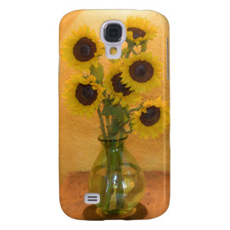 Sunflowers in vase on table 2 galaxy s4 case
