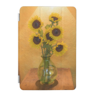 Sunflowers in vase on table 2 iPad mini cover