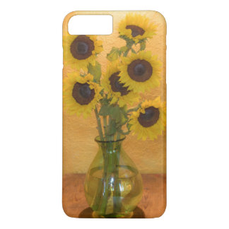 Sunflowers in vase on table 2 iPhone 8 plus/7 plus case
