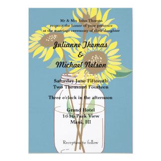"Sunflowers 5"" X 7"" Invitation Card"