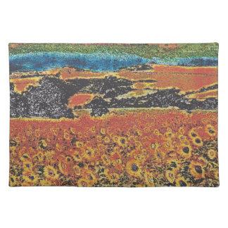 sunflowers izki park alava spain placemats