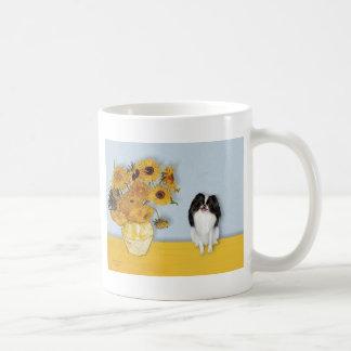 Sunflowers - Japanese Chin 3 Coffee Mugs