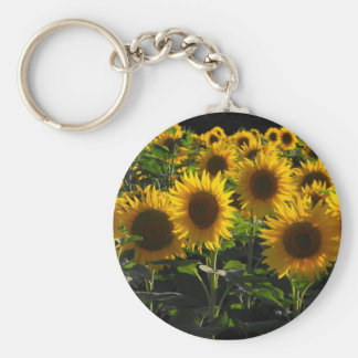 sunflowers key ring