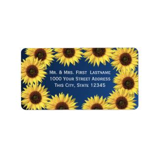 Sunflowers Label