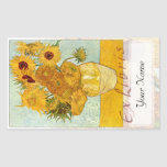 "Sunflowers Large Book Plate ""Ex Libris"""