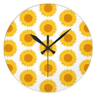 Sunflowers. Large Clock