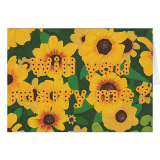 Sunflowers Marriage Proposal Card