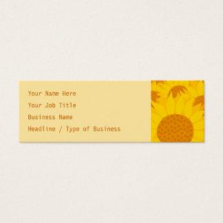 Sunflowers Mini Business Card