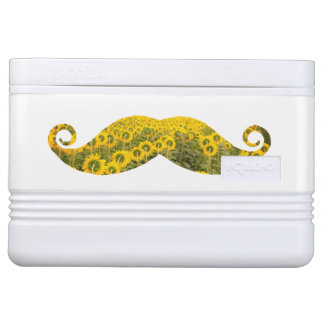 Sunflowers Moustache Igloo 12 Can Cooler Igloo Cool Box