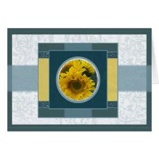 Sunflowers n Butterflies 2b Note Card