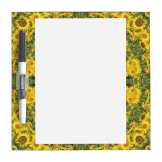 Sunflowers Nature, Flower-Mandala (Blumen-Mandala) Dry Erase Board