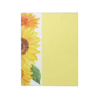 Sunflowers Note Pad