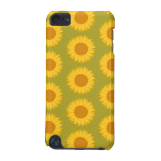 Sunflowers on Khaki Green. Floral Pattern. iPod Touch 5G Cover