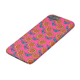 Sunflowers on pink barely there iPhone 6 case
