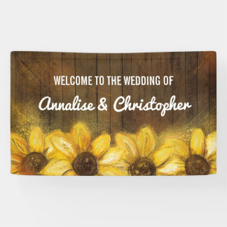 Sunflowers on Wood   Welcome to the Wedding