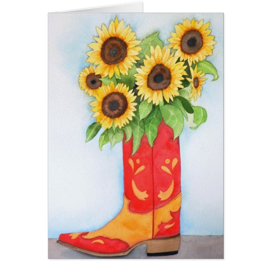 Sunflowers Out Of The West Card