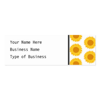 Sunflowers. Pack Of Skinny Business Cards