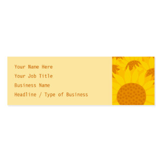 Sunflowers Pack Of Skinny Business Cards