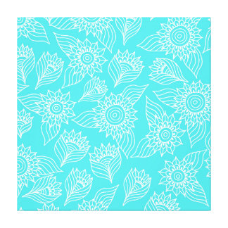 Sunflowers pattern canvas prints