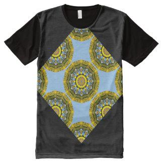 Sunflowers, pattern, Flower-Mandala All-Over Print T-Shirt