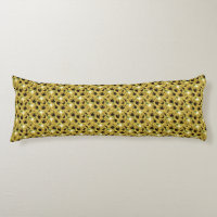 Sunflowers Patterned Body Pillow
