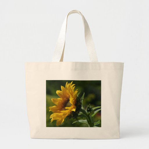 Sunflowers Petals Pollen Yellow Tote Bags