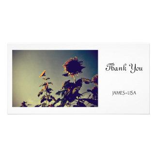 Sunflowers Custom Photo Card