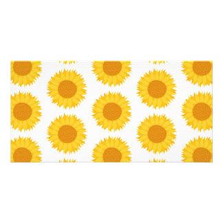 Sunflowers. Customized Photo Card