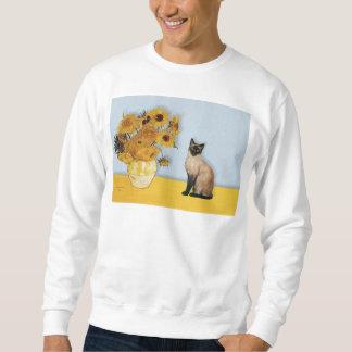 Sunflowers - Seal Point Siamese cat Sweatshirt