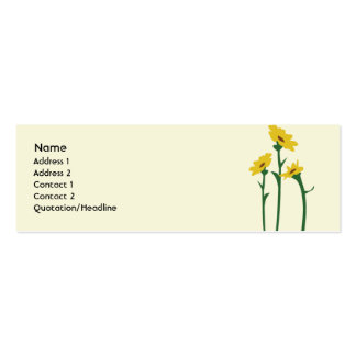 Sunflowers - Skinny Business Card Templates