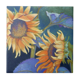 sunflowers small square tile