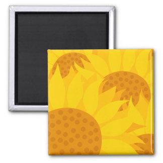 Sunflowers Square Magnet