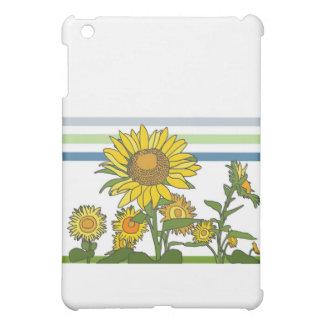 Sunflowers Stripes iPad Mini Covers