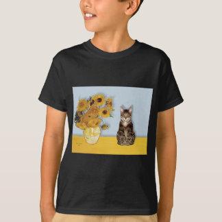 Sunflowers - Tabby Tiger cat 30 T-Shirt