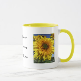 Sunflowers that smile mug
