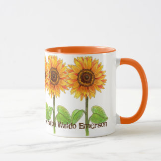 Sunflowers - The earth laughs in flowers Mug