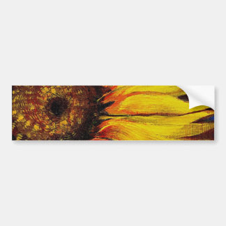 Sunflowers to Warm-up Your Heart! Bumper Sticker