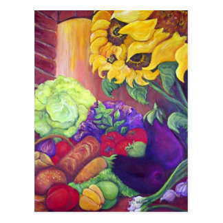 Sunflowers & Veggies Postcard