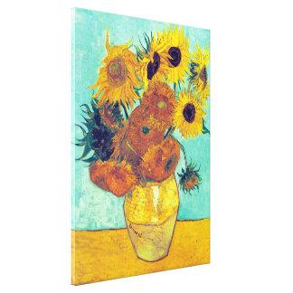Sunflowers Vincent Van Gogh Stretched Canvas Print
