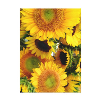 Sunflowers Wall Canvas Print Customize Size
