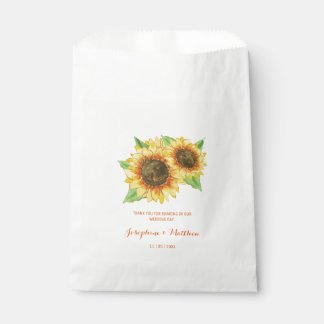 Sunflowers Watercolor Favour Bags