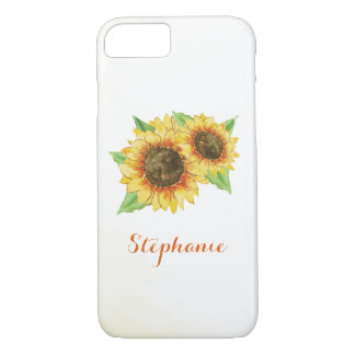Sunflowers Watercolor iPhone 8/7 Case