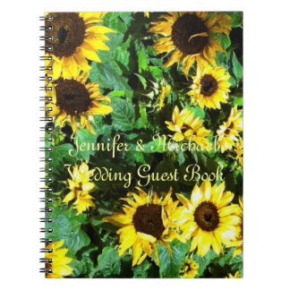 Sunflowers Wedding Guest Book