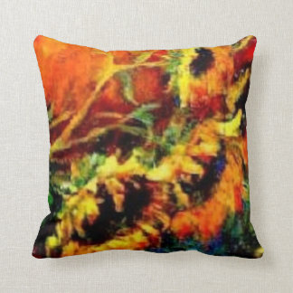 Sunflowers Western Throw Pillow by Sharles