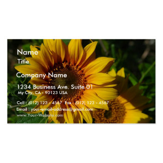 Sunflowers Yellow Business Card Template