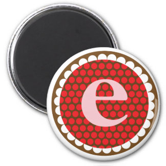 Sunflowery Flair Red- E 6 Cm Round Magnet