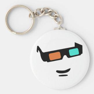Sunglass Basic Round Button Key Ring