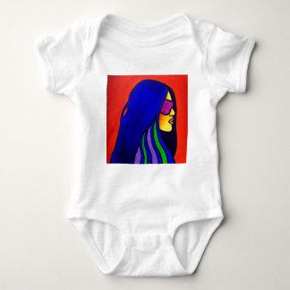 Sunglass Woman by Piliero Baby Bodysuit