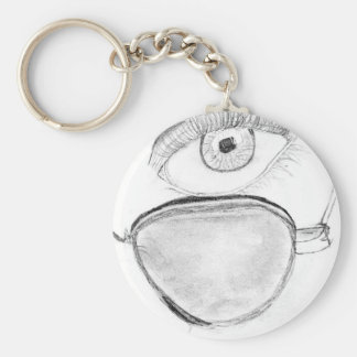 Sunglassed Eye Basic Round Button Key Ring