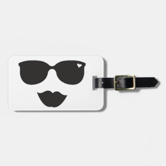 Sunglasses and Lips Face Luggage Tag